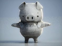 A lovely Pig rendering, by Indonesian 3D artist, Andrey Pratama.