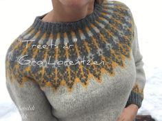 Ar tresins , Treets år Islandsk strikk Icelandic Sweaters, Cozy Sweaters, Fair Isle Knitting, Hand Knitting, Clothing Patterns, Knitting Patterns, Christmas Knitting, Sweater Design, Textiles