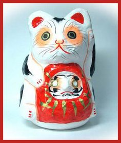 Daruma Doll Museum : Cats and Daruma: Maneki Neko Tama