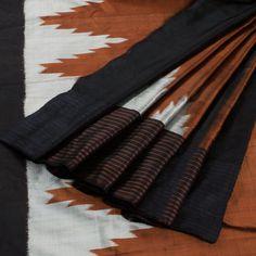 Kala Aur Katha Nutmeg Brown Handwoven Khandua Ikat & Khadi Silk Saree 10002589 - AVISHYA