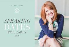 Katelyn James Speaking dates for 2016