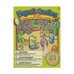 Travel Toy: Dizzy Dinos Magnetic Creations Tin Play Set