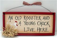 Hand Painted Wooden Signs Chickens   Old Rooster Young Chick Sign Chicken Farm Country Hen   eBay