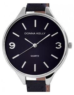 Gyönyörű sötétkék, elegáns női Donna Kelly karóra vékony szíjjal DK4603TR