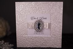 Embossed Crystal Wedding Invitations With Embellishment, A Set Of 50 by luxuryweddinvitation on Etsy