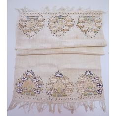 19th Centurty Ottoman Turkish Embroidered Towel | Textiles For Framing | Fabric of Life Handmade Textiles, Cards & Conservation