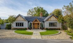 Unable to find their forever home, this couple built their own oak-framed cottage, complete with an eclectic interior full of finds from home and abroad Bungalow Renovation, Bungalow Exterior, Cottage Exterior, Dream House Exterior, Bungalow Ideas, Bungalow Designs, Cotswold House, Dormer Bungalow, Bungalow Extensions