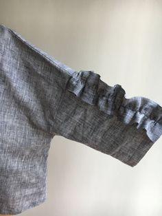 Womens Top from Linen Grey Linen Top Linen tunic top Linen
