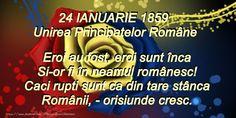 24 Ianuarie Poezie: Traiasca Unirea! 24 ianuarie 1859 Romania, 1 Decembrie, School, Poster, Folklore, Schools, Posters