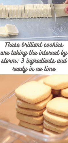 These brilliant cookies are taking the internet by storm: 3 ingredients and ready in no time # easy recipes Easy Cookie Recipes, Cookie Desserts, Just Desserts, Baking Recipes, Sweet Recipes, Delicious Desserts, Dessert Recipes, Yummy Food, Cookie Cups