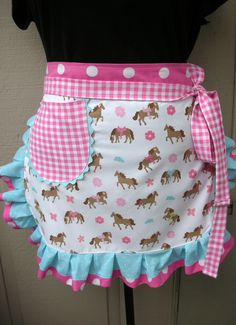 Apron - Womens Half Apron - Horse Apron - A Girl and Her Horse - Apron - Western Apron - Annies Attic Aprons by AnniesAttic on Etsy https://www.etsy.com/listing/116733190/apron-womens-half-apron-horse-apron-a