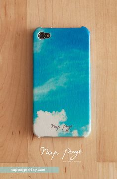 iphone 4 case , case for Iphone 4 Blackberry mobile Case handmade : cloud and blue sky