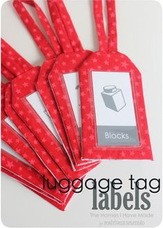 Luggage Tag Labels   Positively Splendid {Crafts, Sewing, Recipes and Home Decor}