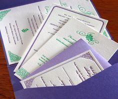 nautical and irish wedding invitation suite