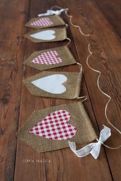 Burlap & Lace Heart Banner Rustic Country Wedding Decor Red White Gingham This burlap heart banner features classic red and white checkered fabric hearts that are hand cut and sewn to each burlap flag Valentines Day Photos, Valentines Day Decorations, Valentine Day Crafts, Love Valentines, Holiday Crafts, Valentine Banner, Cool Valentines Day Ideas, Valentines Day Hearts, Valentines Day Decor Rustic