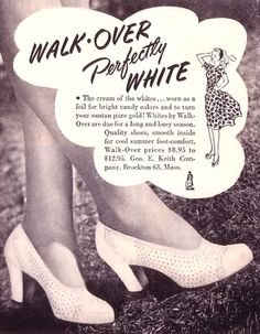 Classic vintage white heels - so perfect for spring and summer. #vintage #shoes #ads #fashion