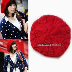 Legal Red Simple Knitting #Wool Fashion #Hats  www.asujewelry.com