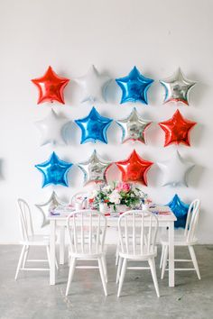 Fourth of July Balloons Fourth Of July Decor, 4th Of July Celebration, 4th Of July Decorations, 4th Of July Party, July 4th, July 4 Birthdays, July Baby, Patriotic Party, Patriotic Crafts