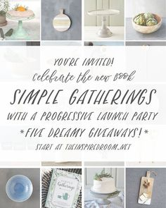 Don't we all want meaningful ideas to gather our friends and family together? Let's Celebrate the new book Simple Gatherings: 50 ways to inspire connection and enter to win some amazing Anthropology style party prizes.