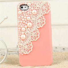 New Fashion Pink Sexy Lace Deco Bling Pearl Sweet Case Cover for iPhone 4 4S 4GS | eBay