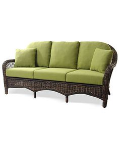 Windemere Wicker Patio Furniture, Outdoor Sofa - Outdoor Couches & Sectionals - furniture - Macy's