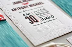 Best of 2011: Jaime + Anthony's Modern Woodgrain Wedding Invitations