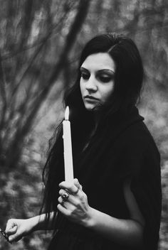 darkness | candle | black & white | black | forest | spook | model | photography |
