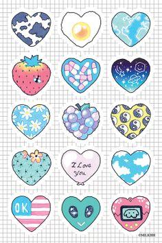 trendy wallpaper iphone cute girly flowers we heart it Cute Animal Drawings Kawaii, Cute Easy Drawings, Mini Drawings, Cute Little Drawings, Doodle Drawings, Doodle Art, Cute Food Art, Cute Art, Kawaii Stickers