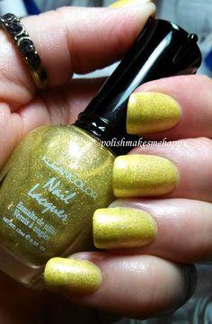 Kleancolor - Yellow Holo  >>  https://www.facebook.com/polishmakesmehappy