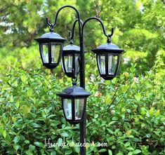 DIY Outdoor Solar Lamp Post Light