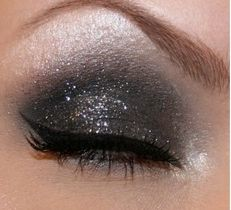 The smoky eye with a little bit of sparkle