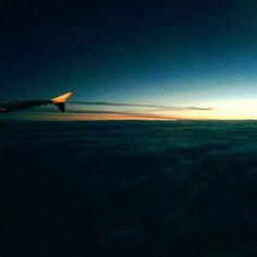 Flying #easyjet #gva #paris #sunrise