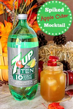 Spiked Apple Cider Drink! This is a great, non-alcoholic drink for Thanksgiving parties and get togethers! http://lifesabargain.net/spiked-apple-cider/ #PassTheTEN ad