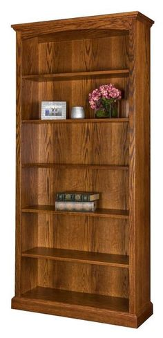 Amish Siloam Bookcase Pick from 6 heights and 6 wood types for the ideal bookcase. The doors are yours to pick too in wood or glass, or go without doors if you wish. Amish made custom furniture is found at DutchCrafters.