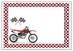 Risultati immagini per convite festa infantil motocross