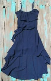 Navy High Low Cowgirl Dress $29.99