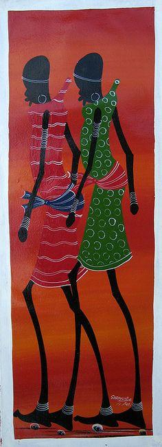 "Title: A102  Dimensions:10"" x 27.5"" (26 x 70cm)  Medium:  Oil on Canvas"