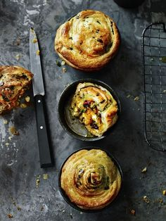 Recipe Vegetarian Spinach & Mushroom Pies
