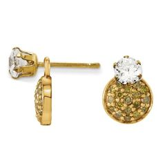 14k Yellow Gold 1 5 Ctw Diamond Dangle Earring Jackets 28969