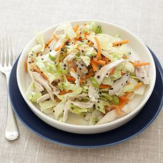 Chinese Chicken-Cabbage Salad with Peanut Sauce Recipe - Health Mobile+