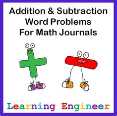 Addition & Subtraction Word Problems for Journals 2.OA.A.1
