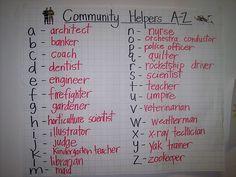 Community Helpers A-Z