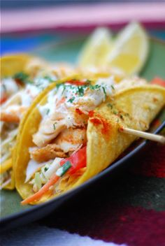 Dosen't this grilled fish taco look great?! This is a fish recipe. I am not a big fan of fish, but i would love to try this with a side of french fries.