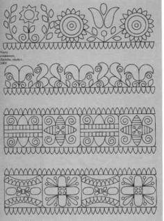Slovak Embroidery Patterns | Slovak Folk Embroidery Antique Costume Kroj Needlework Cross Stitch ...