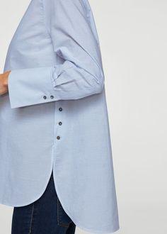 Buttons cotton blouse – f foBlouses Women Buttoned cotton shirt Stylish Dress Designs, Stylish Dresses, Mode Outfits, Fashion Outfits, Fashion Fashion, Fashion Tips, Sleeves Designs For Dresses, Mode Hijab, Cotton Blouses