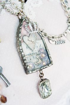 514 best soldered jewelry images on pinterest in 2018 soldering this is a really pretty collage under the glass and i love the arch shape aloadofball Image collections