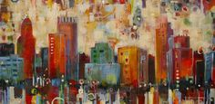 Spontaneous Skyline (24 x 48)  Original Painting Sold, Prints Available