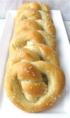"Use ""wasted"" sour dough starter for pretzels."