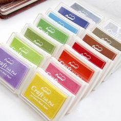 DIY 다채로운 공예 귀엽다 잉크 패드 만화 스탬프 잉크 패드 스크랩북 장식 한국어 문구 무료 605