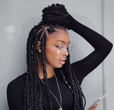 Nice 45 Breathtaking Hairstyles With Big Box Braids Being within sizing 1080 X 1080 Hairstyles With Big Braids - The braid hairstyle is a flattering, sexy Braided Hairstyles For Black Women, Braids For Black Women, Braids For Black Hair, Blonde Box Braids, Short Box Braids, Big Braids, Thick Box Braids, Dookie Braids, Thick Hair